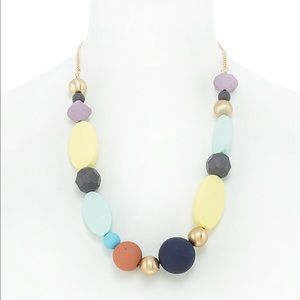 Colorful Matted Stone Statement Necklace